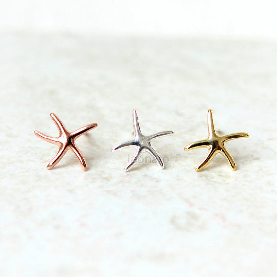 Starfish Earrings in 925 sterling silver