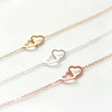Stitched Heart Necklaces