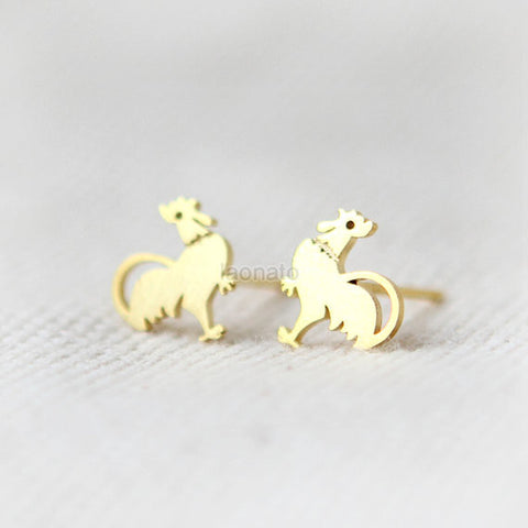 Bird on a Branch Disc earrings