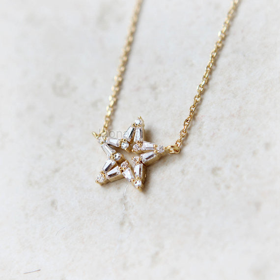 Open Star Cubics Necklace