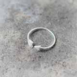 Adjustable CZ Arrow Ring in 925 sterling silver