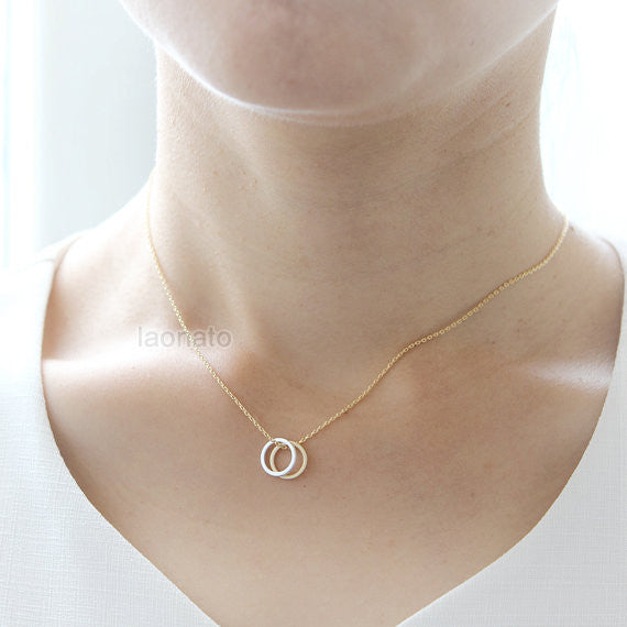 Two Open Circles Necklace