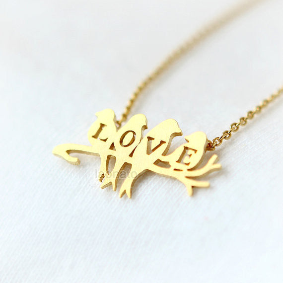 LOVE Birds Branch Necklace