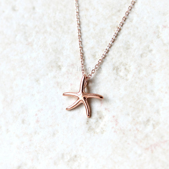 Starfish Necklace in 925 sterling silver