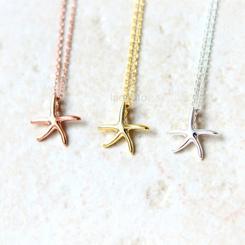 Star Simple Shape Necklace 925 sterling silver