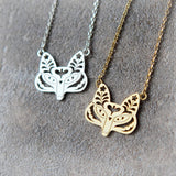 Flower Fox Necklace