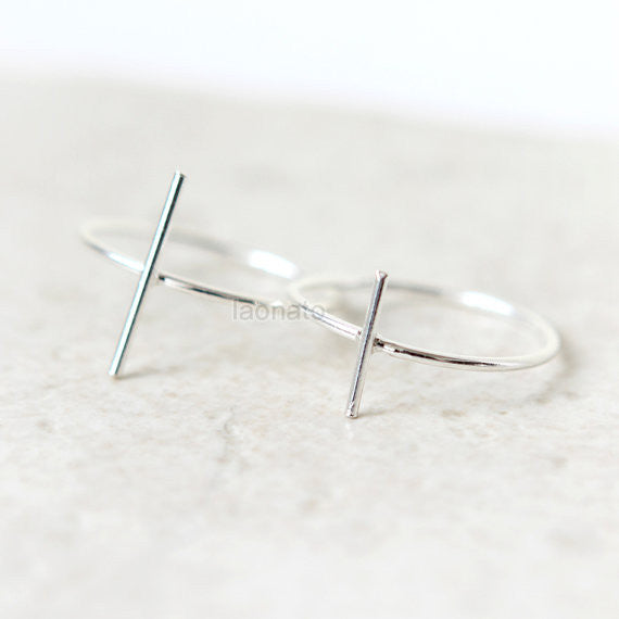 Wire Bar Ring in 925 sterling silver