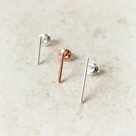 Wire Bar earrings in 925 sterling silver