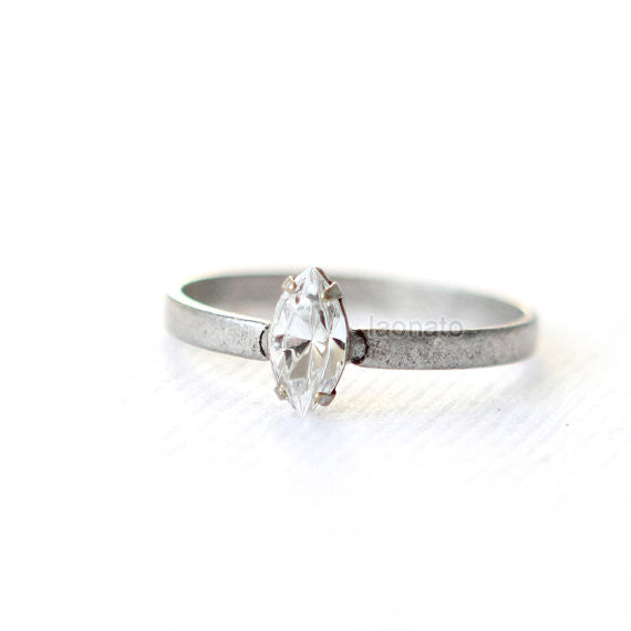 Marquise Crystal Ring