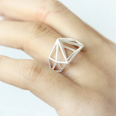 Two Tone Mountain Ring