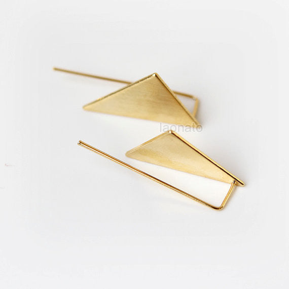 Triangle Hook Earrings / choose your color, gold and silver