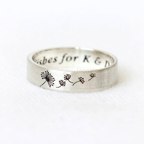 Crown Ring for KING and QUEEN / Custom Personalized Ring, couples ring