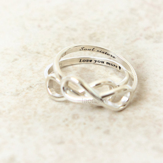 Personalized Infinity Ring in 925 sterling silver
