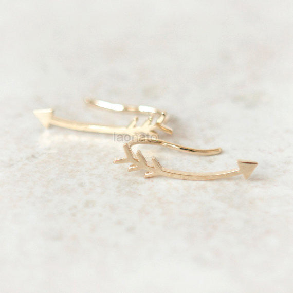 Arrow Ear Climber, ear cuff