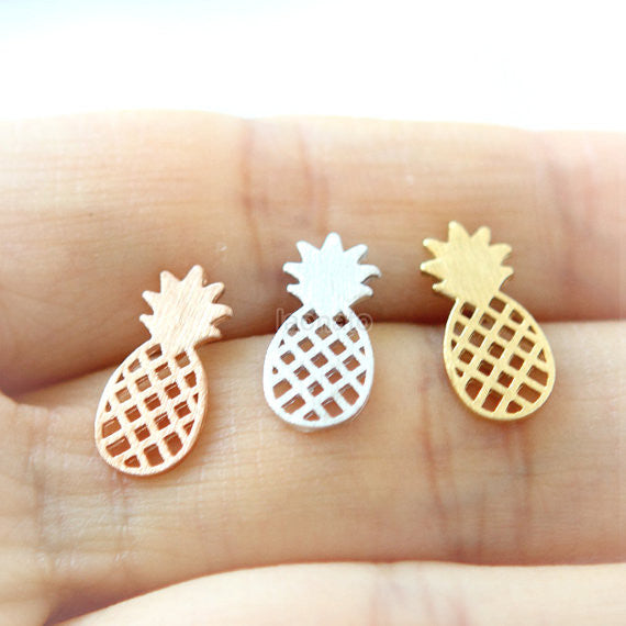 Pineapple Earrings / fruit studs