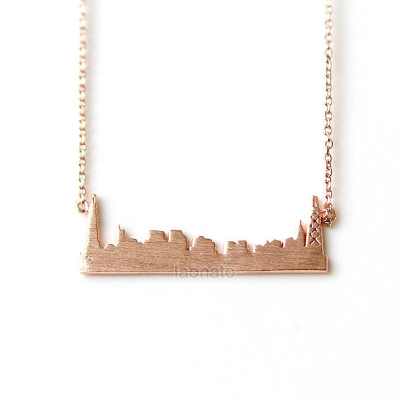 Cityscape Necklace- Chicago