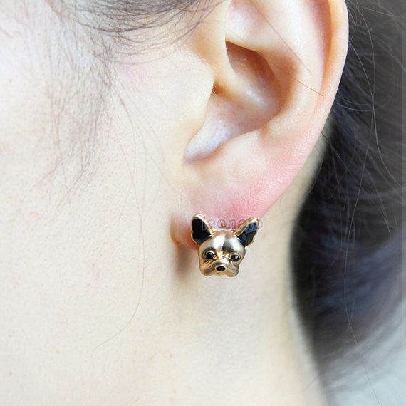 French Bulldog Earrings / doggy earrings, pet jewelry