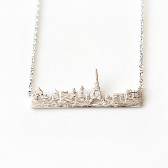 Cityscape Necklace- Paris