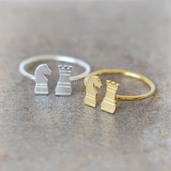 Chess Pieces Ring / Knight and Rook