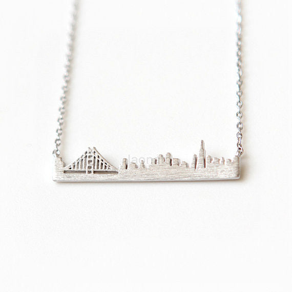 Cityscape Necklace- San Francisco