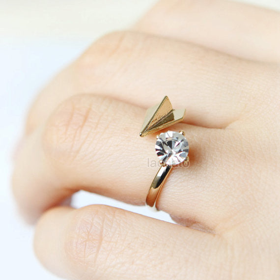 Paper airplane and CZ Ring