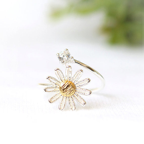 Daisy Lace Ring in 925 sterling silver