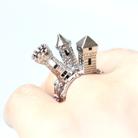 Castle Turret Rings -Set of 3