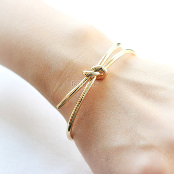 Knot Bangle / Love Knot bracelet