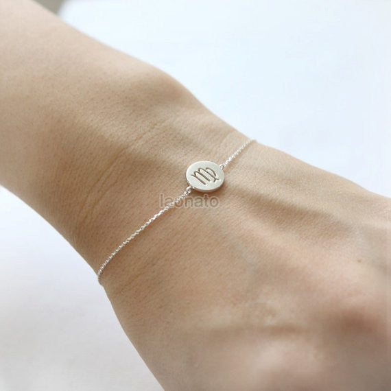 Zodiac Sign Bracelet in 925 sterling silver