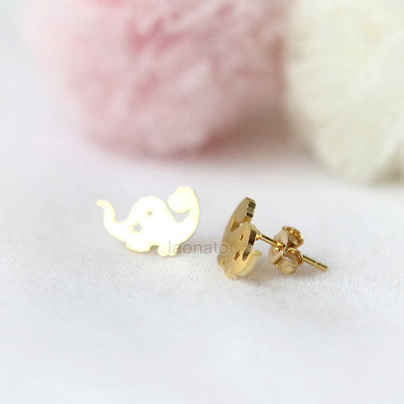Cute Dino Earrings / Dinosaur studs