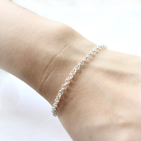 5 Crystals Bracelet in 925 sterling silver