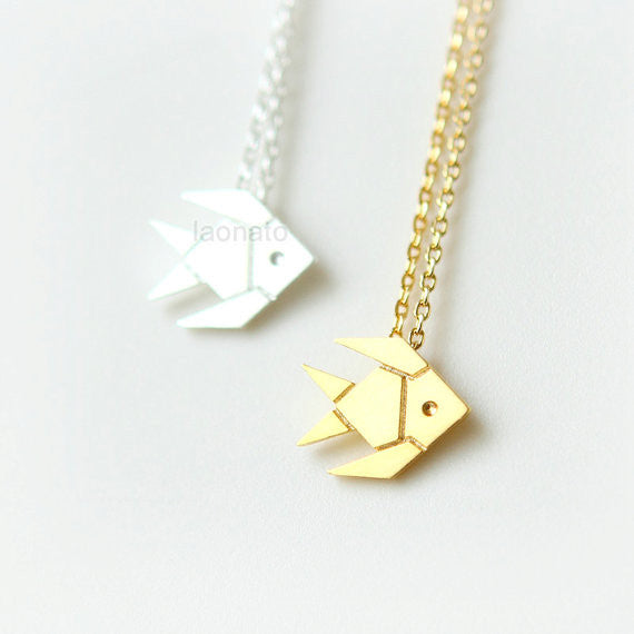 Origami Fish Necklace