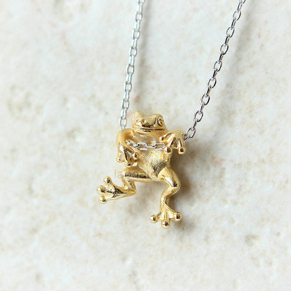 Hanging Frog Necklace
