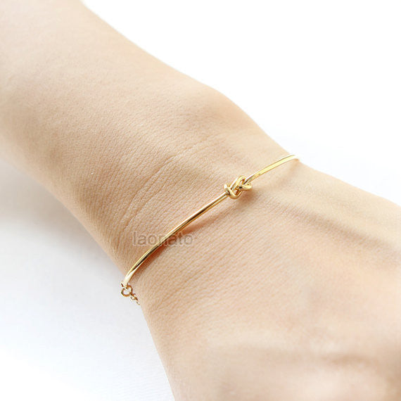 Gold Simple Knot Bracelet / Love Knot bracelet