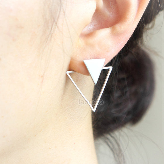 Triangles Front back Earrings