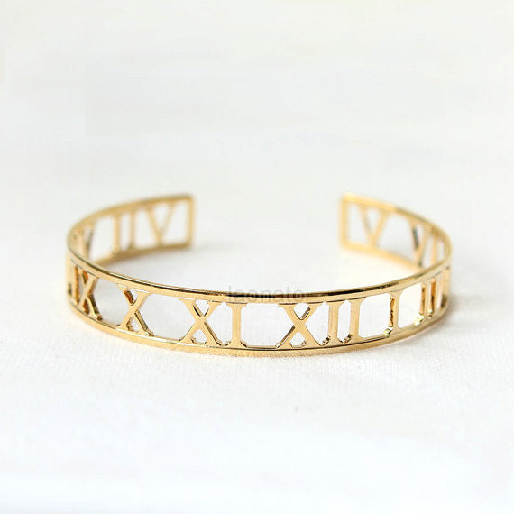 Roman numeral Bangle / numbers bangle