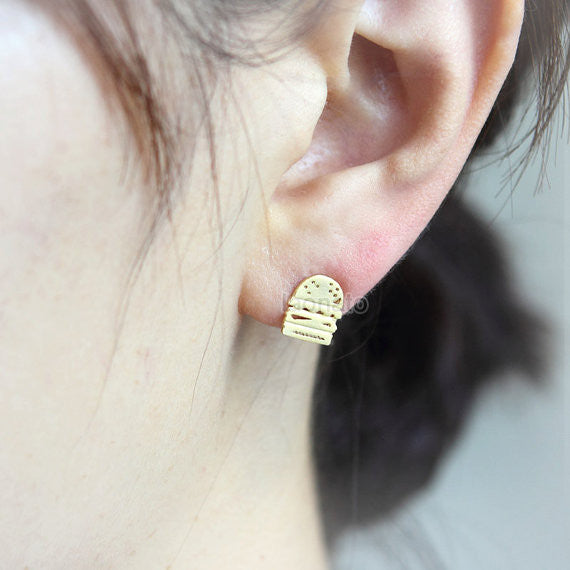 Burger and French Fries Earrings