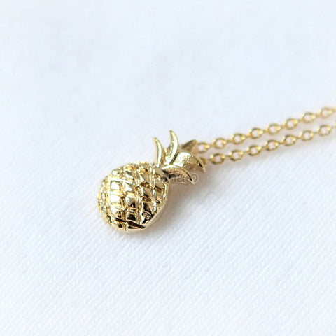 Gold Dotted Elephant Necklace