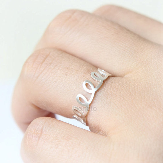 Wire Spring Ring in sterling silver