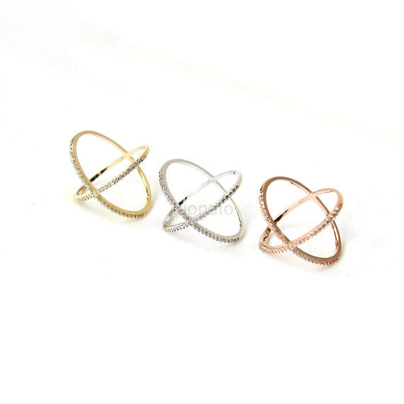 X Ring / criss cross ring