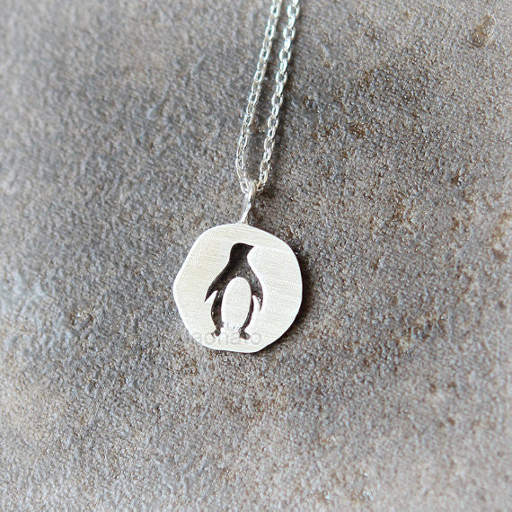 Cutout Penguin Necklace