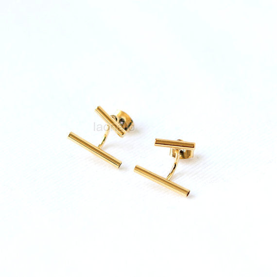 Parallel Bars Front back Earrings