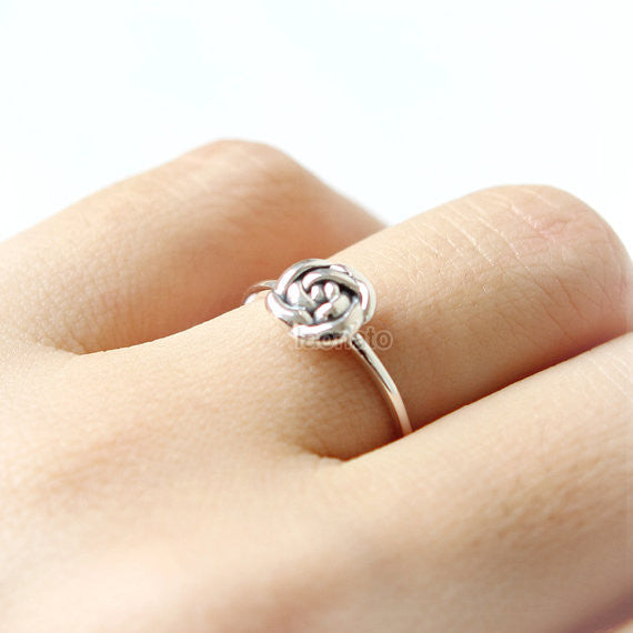 Rose Ring in 925 sterling silver