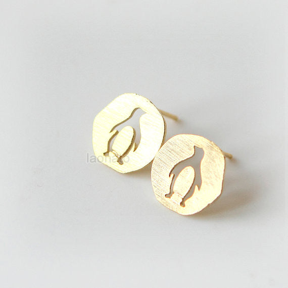 Cutout Penguin Earrings