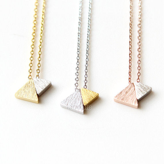 Two-Tone Triangles necklace