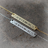 Message Bar Necklace_I Love You To the Moon & Back