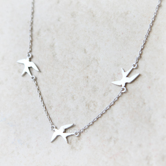 3 Little Birds Necklace