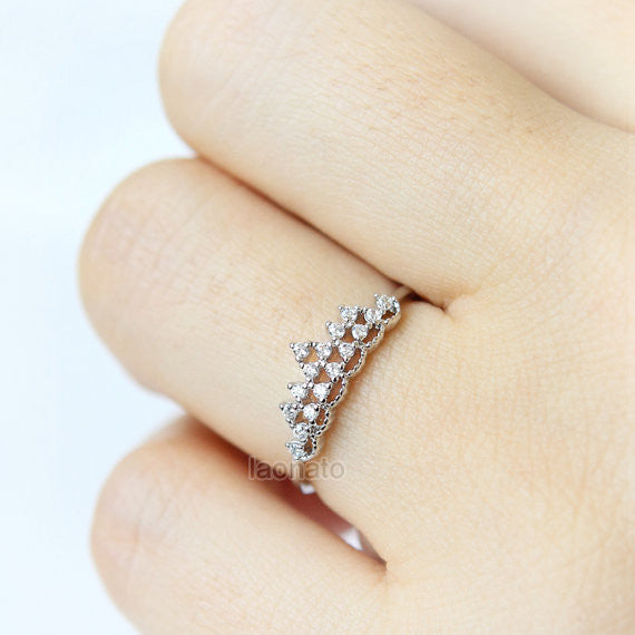 Triangle Tiara Ring