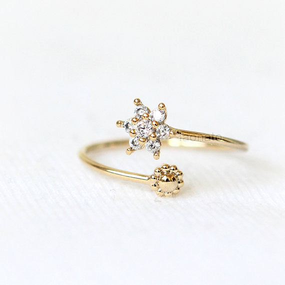 Tiny Snowflake Ring