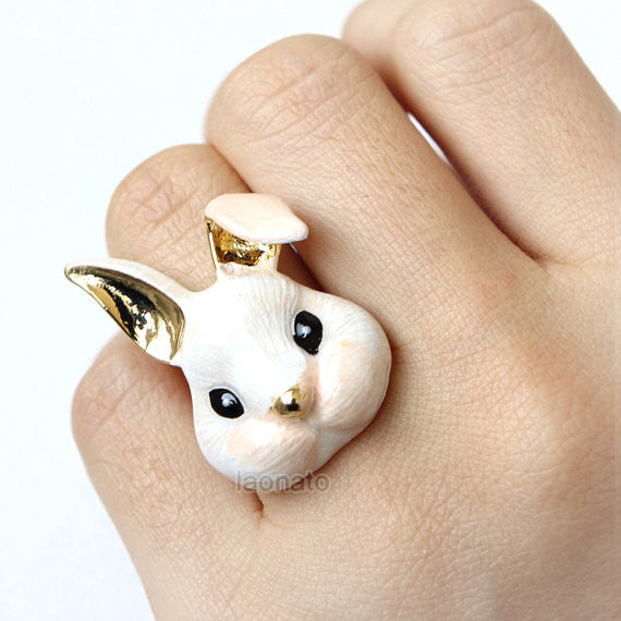 Painted Bunny Ring